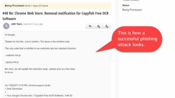 Phisher bringen Chrome-Erweiterung Copyfish unter ihre Kontrolle