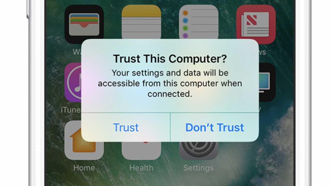 Trust-Dialog iOS