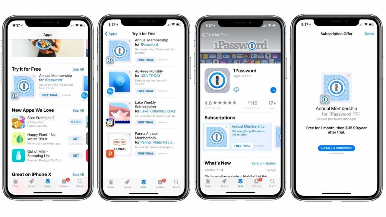 Apple pusht Abo-Anwendungen im App Store