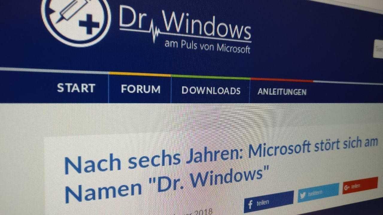 Microsoft droht Dr. Windows-App aus dem Store zu werfen