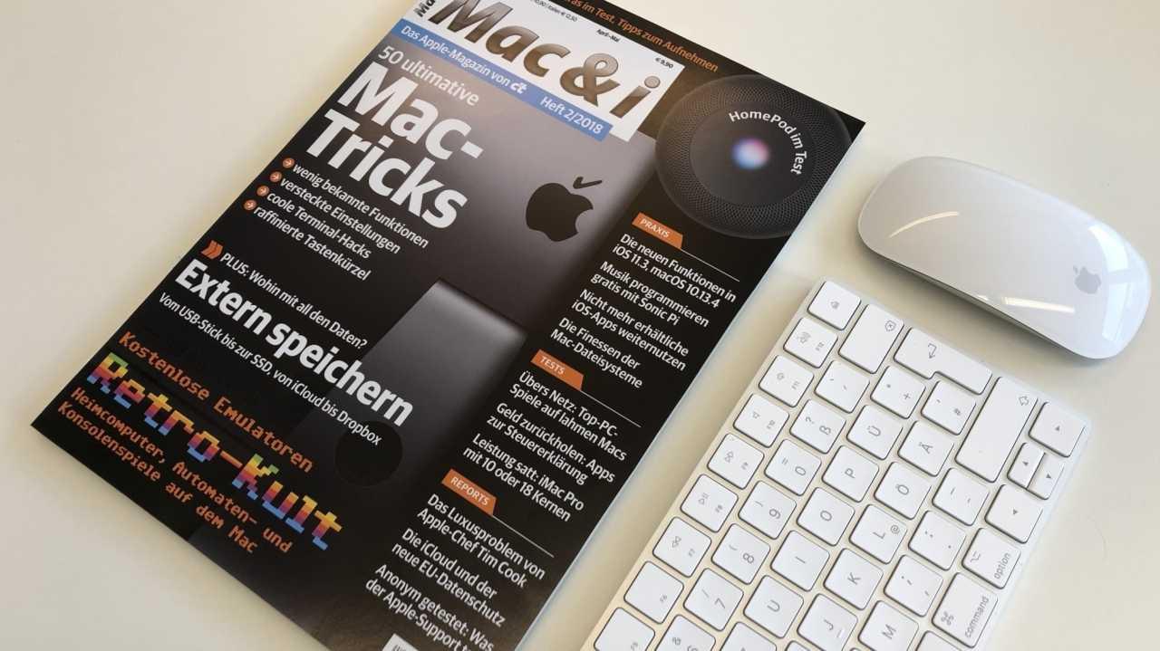 Mac & i Heft 2/2018 jetzt vorab im Heise-Shop