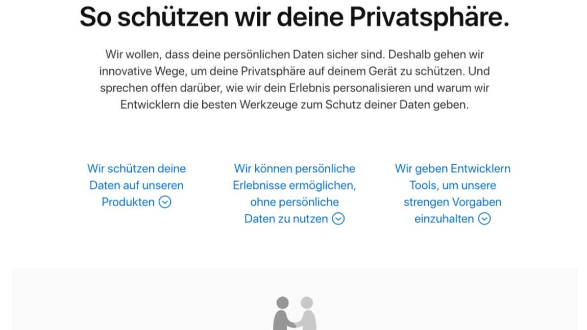 DSGVO: Apple nimmt Privatsphäre ernst