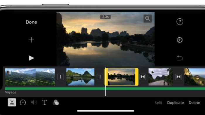 iMovie für iPhone X optimiert