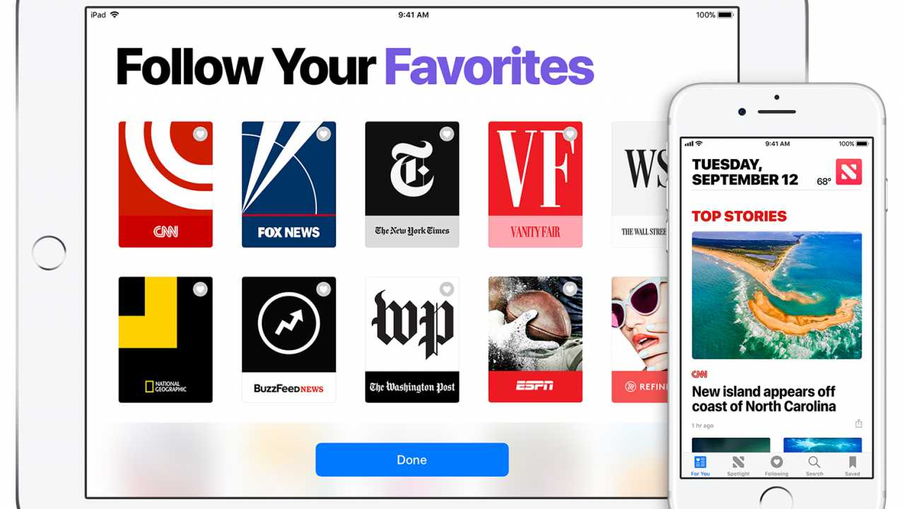 Google-Anzeigen in Apples News-App
