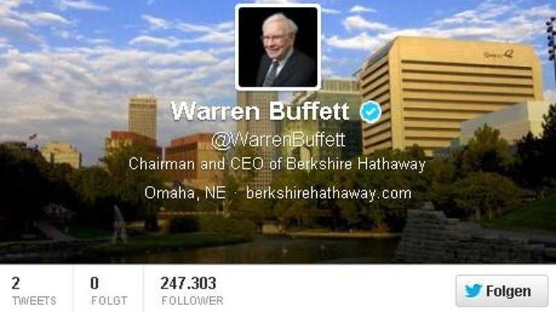 Warren Buffett twittert