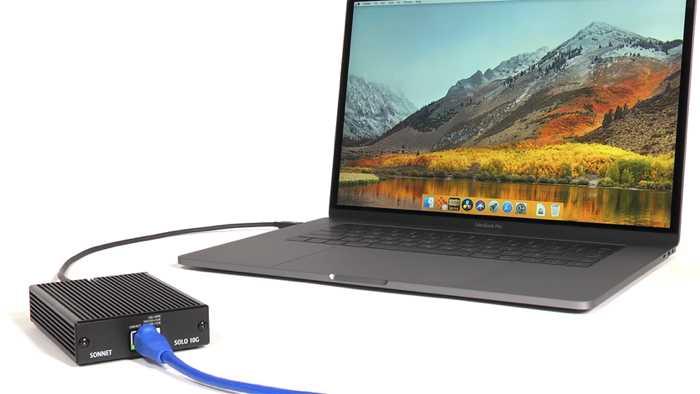 Ethernet mit 10 Gigabit an Thunderbolt-3-Macs