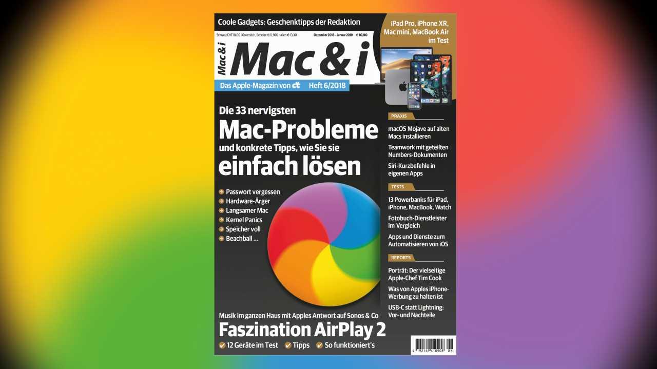 Mac & i Heft 6/2018 jetzt im Heise-Shop