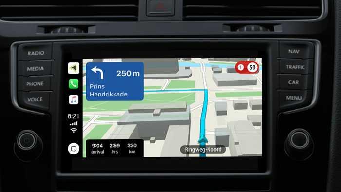 TomTom-Navi für Apples CarPlay
