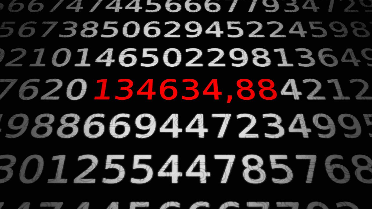 Zahlen, bitte! 134634,88 DM machen den CCC berühmt