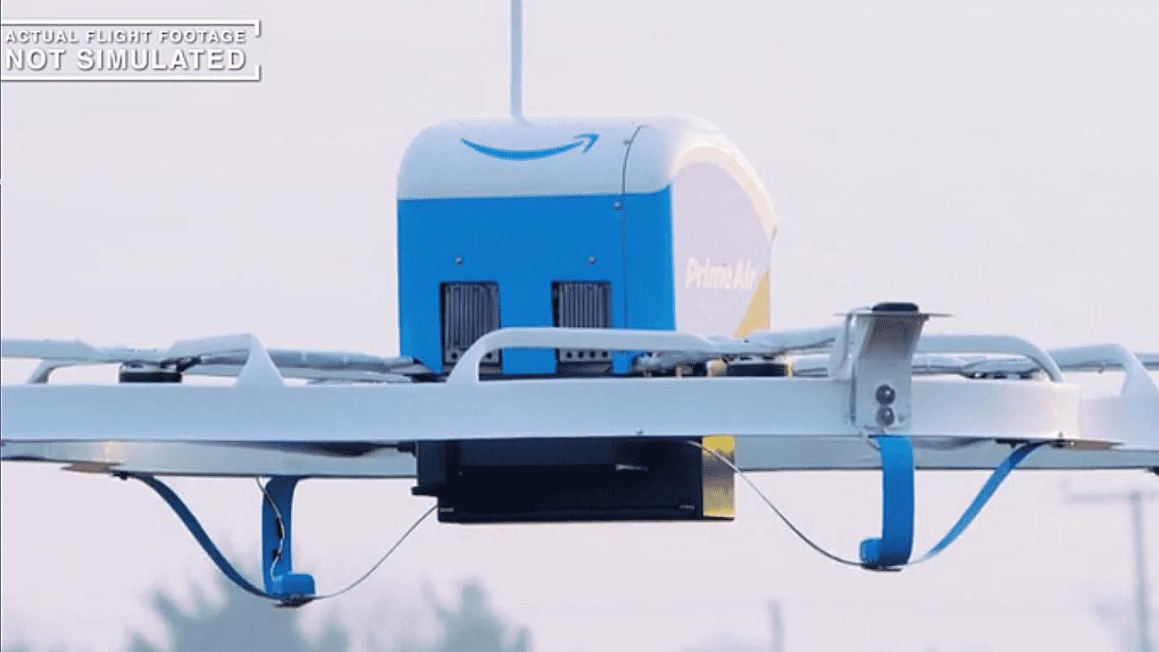 Amazon liefert erste Bestellung per Drohne in Großbritannien aus