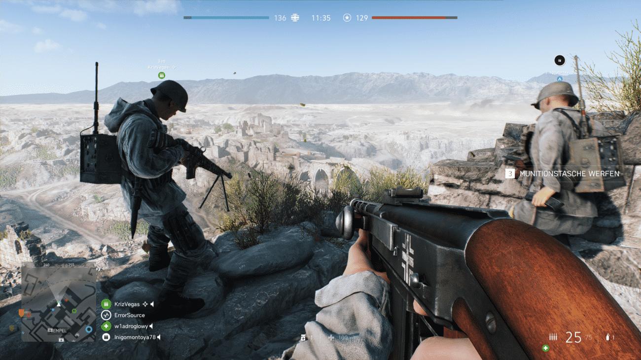 Battlefield V läuft in WQHD-Auflösung sogar mit 60 fps.