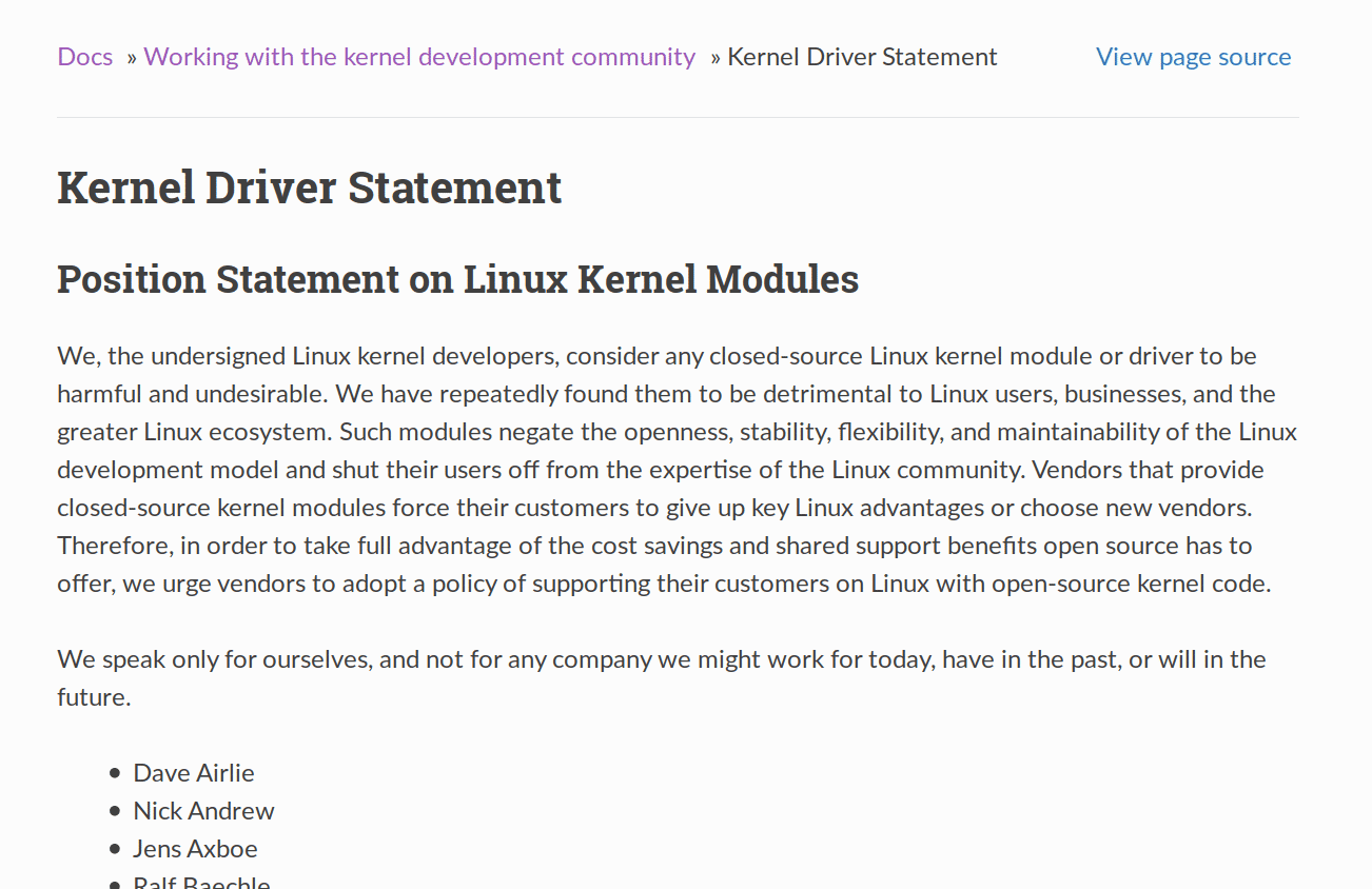 www.kernel.org/doc/html/latest/process/kernel-driver-statement.html