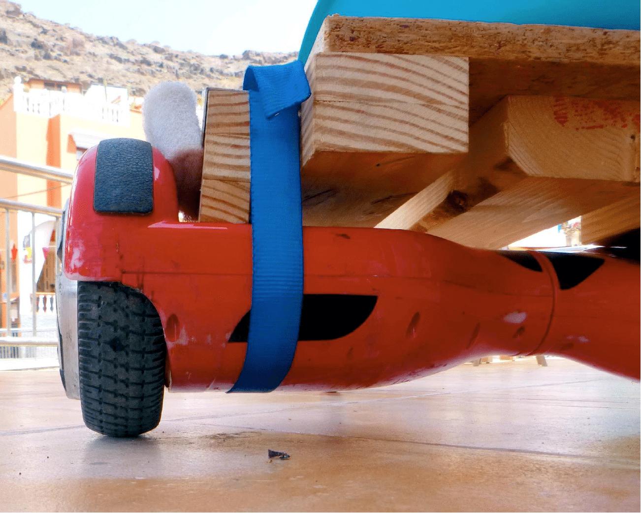 Hoverboard von hinten