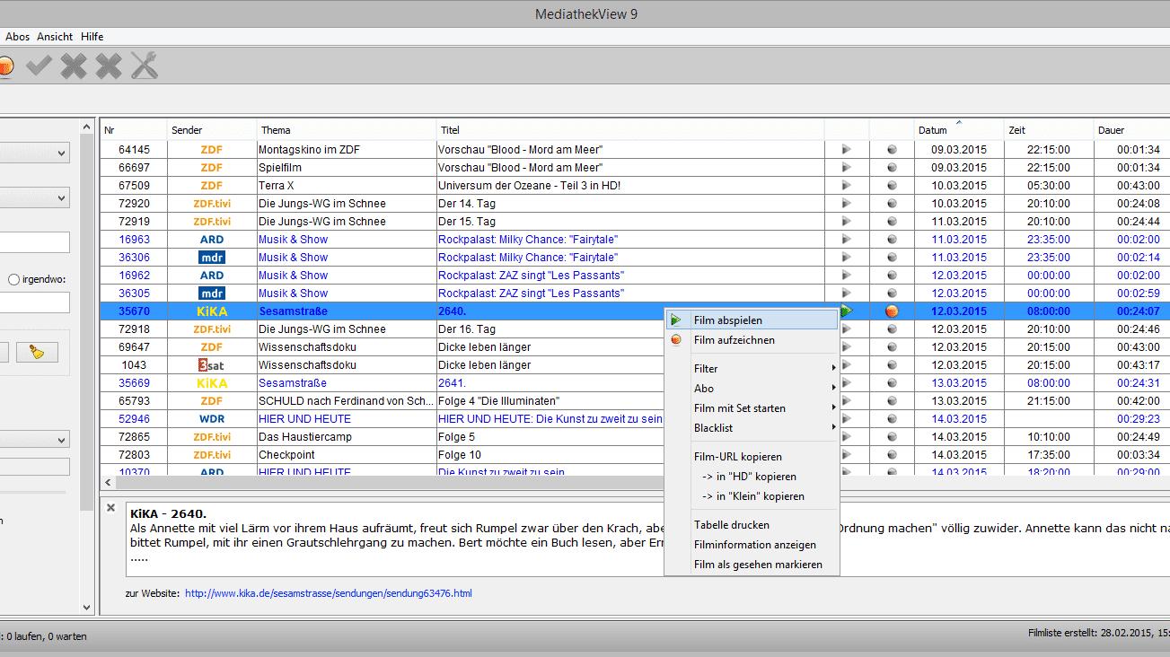 Mediathek View: Version 9 hat ein Herz für alte Hardware