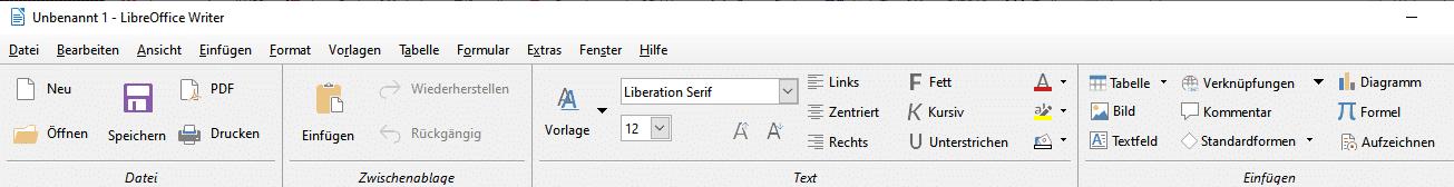 LibreOffice 6.2: Ribbon-ähnliche Oberfläche nicht mehr experimentell