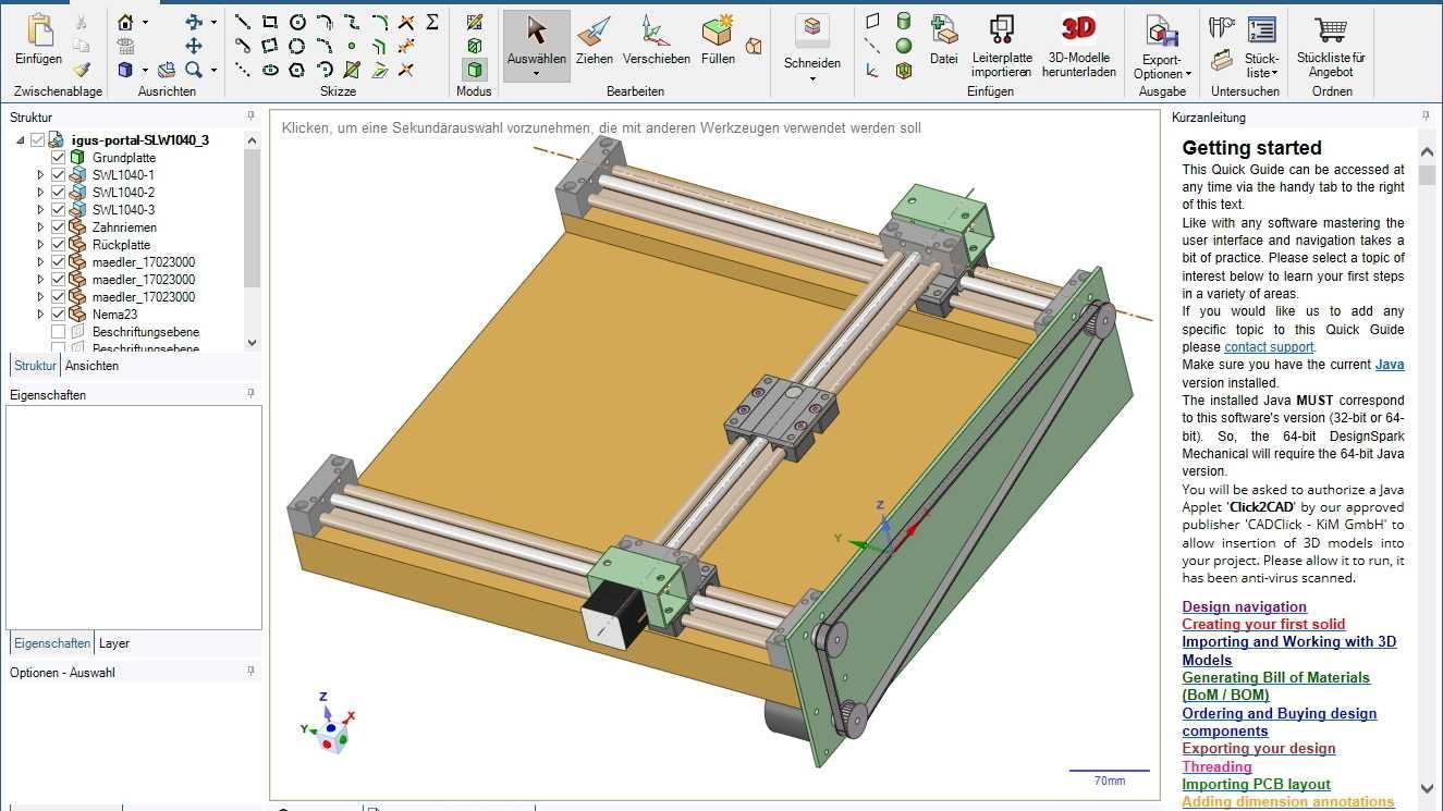 DesignSpark Mechanical in Version 5.0