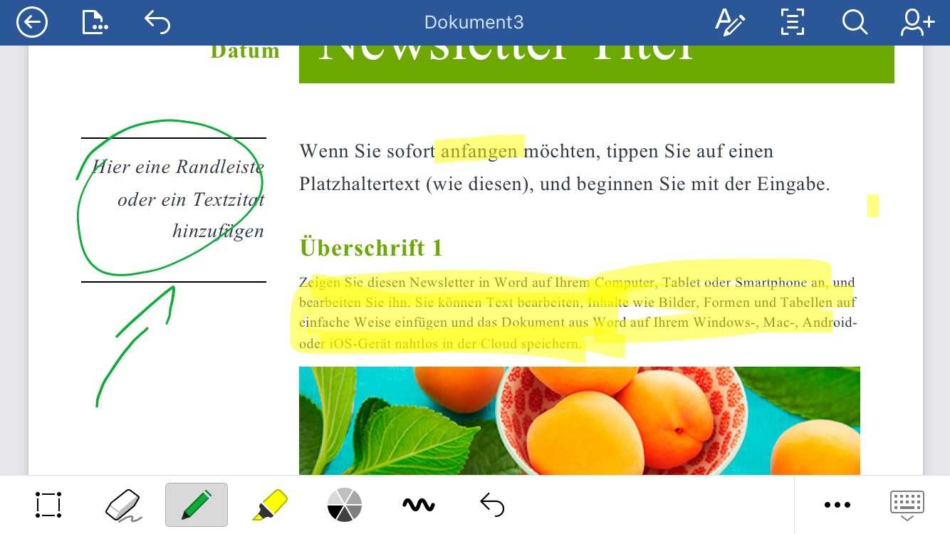 Word-App für iPhone