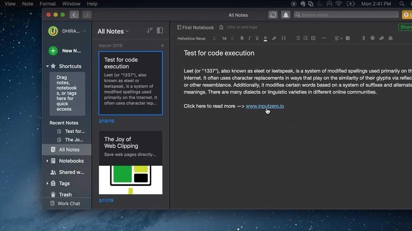 Mac-Version von Evernote enthielt kritische Lücke