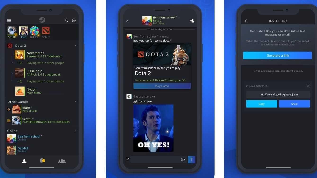 Auf Steam chatten nun auch unter iOS