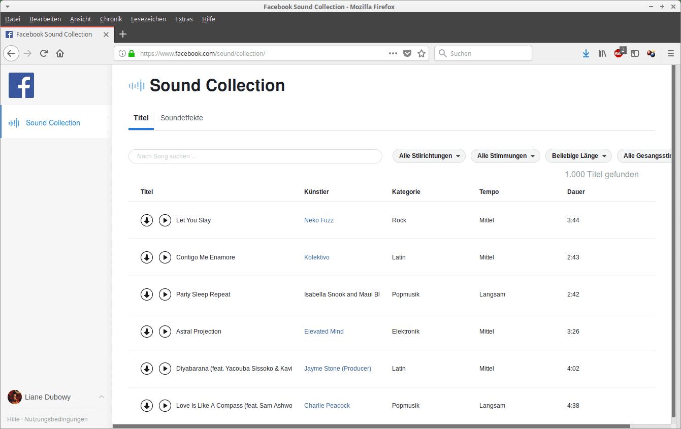 Facebook will Videoproducer mit einer Sound-Bibliothek mit freien Musikstücken und Klängen unterstützen.
