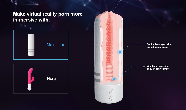 """Masturbationshardware wie die Plastik-Vagina """"Max"""" kann man synchronisiert zu Virtual-Reality-Pornos nutzen."""