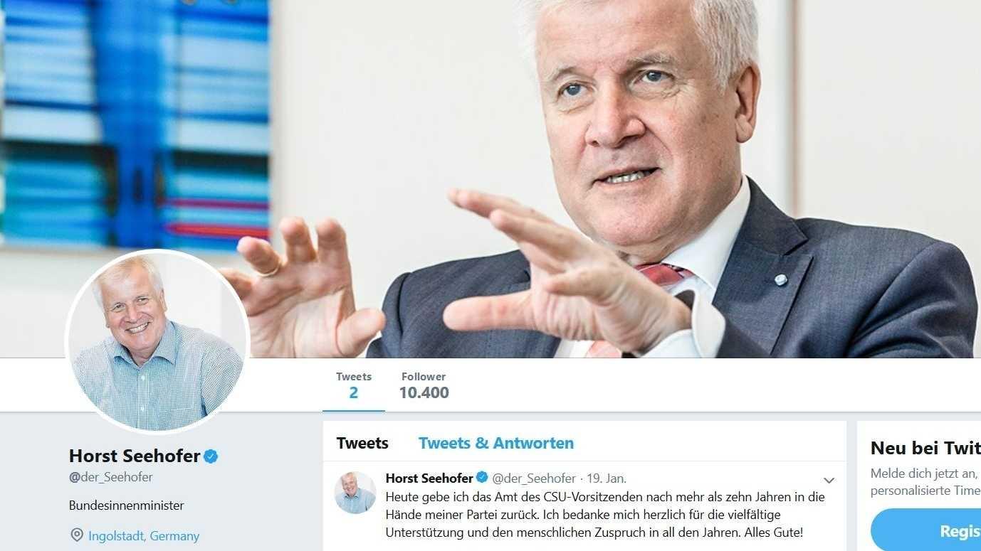 """""""Flach, gehässig und bösartig"""" – Seehofer twittert nicht mehr"""