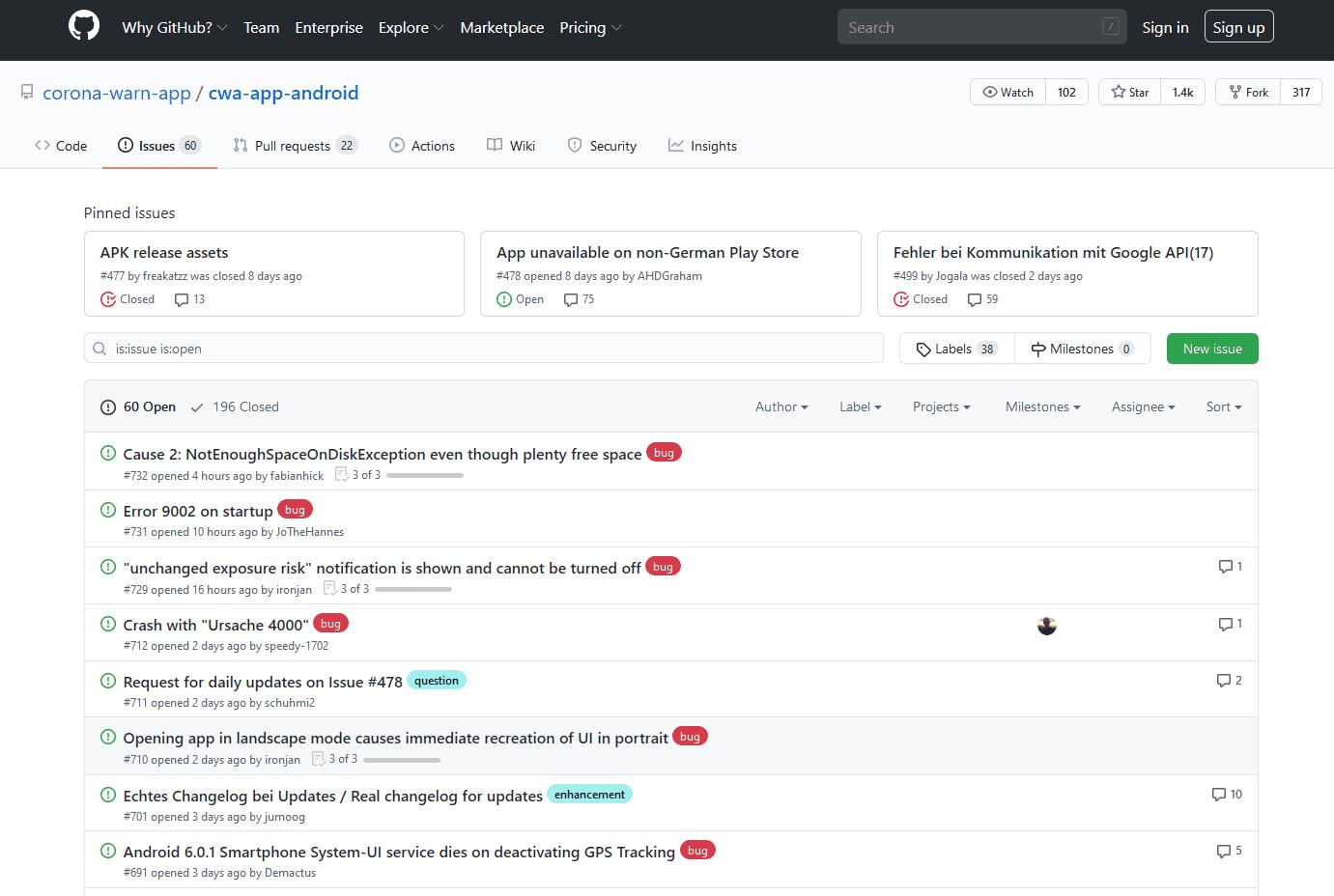 SAP hat den Code der App sowie Dokumentationen auf GitHub veröffentlicht. In den Foren diskutieren Entwickler über Kinderkrankheiten und Verbesserungen.