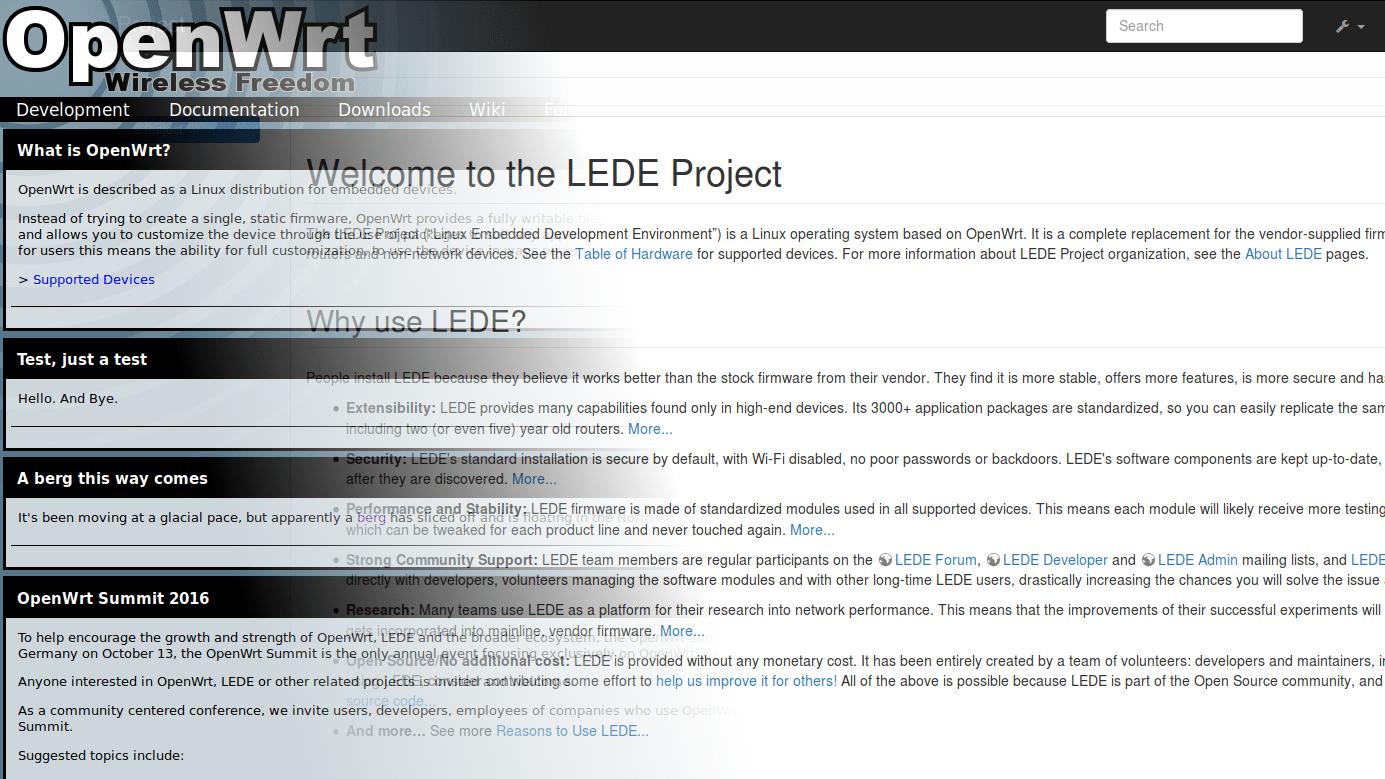 OpenWRT-Alternative LEDE soll wieder ins Hauptprojekt