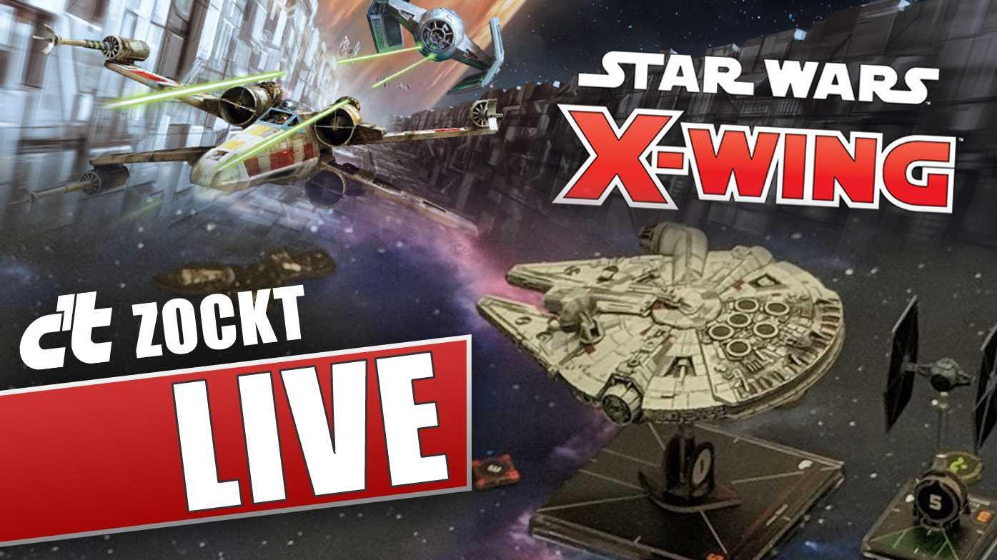 c't zockt LIVE Star Wars X-Wing Miniaturen-spiel: Raumkampf auf dem Spieltisch!