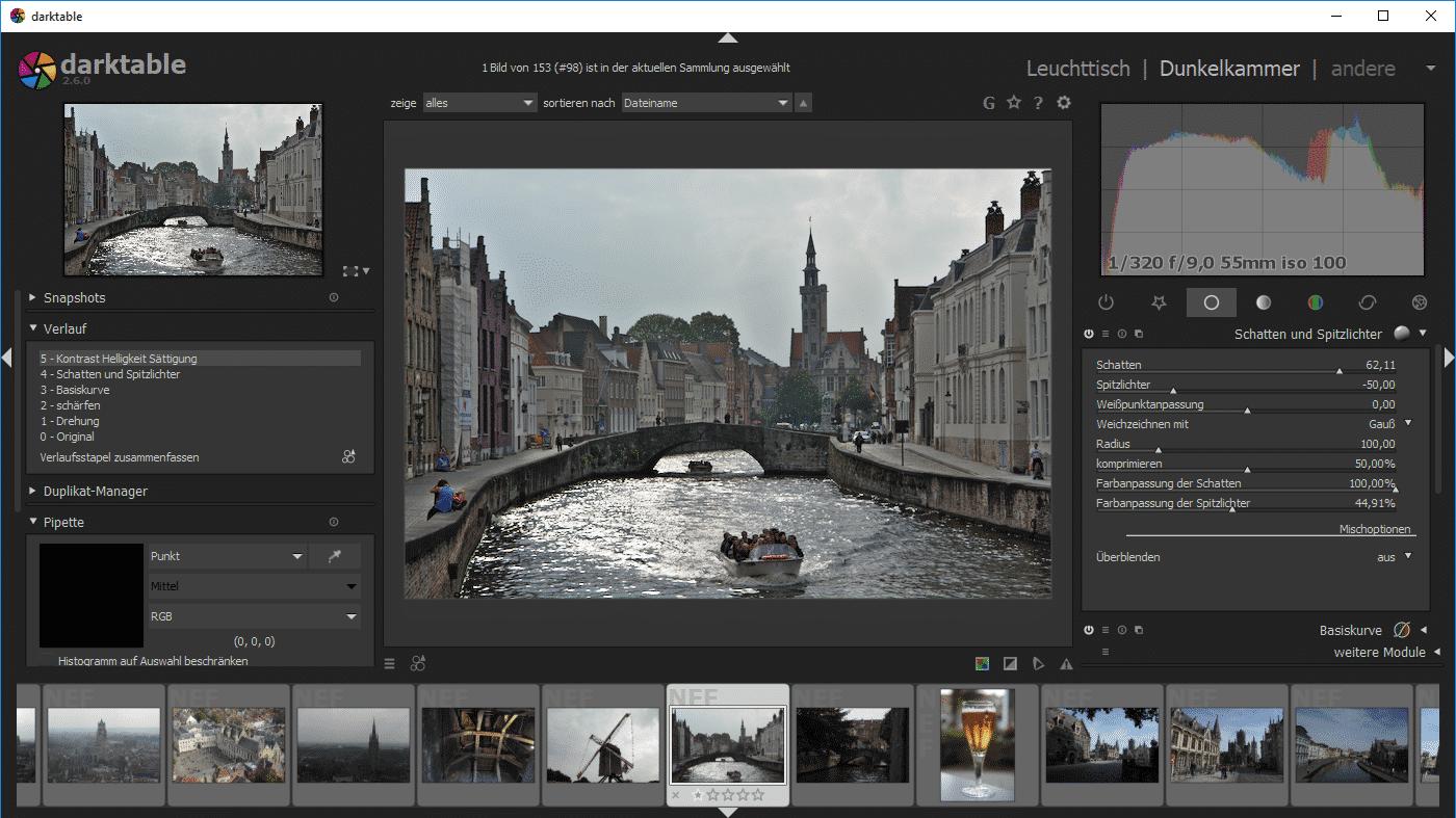 Darktable 2.6 bringt Module für Retusche und Farbkorrektur