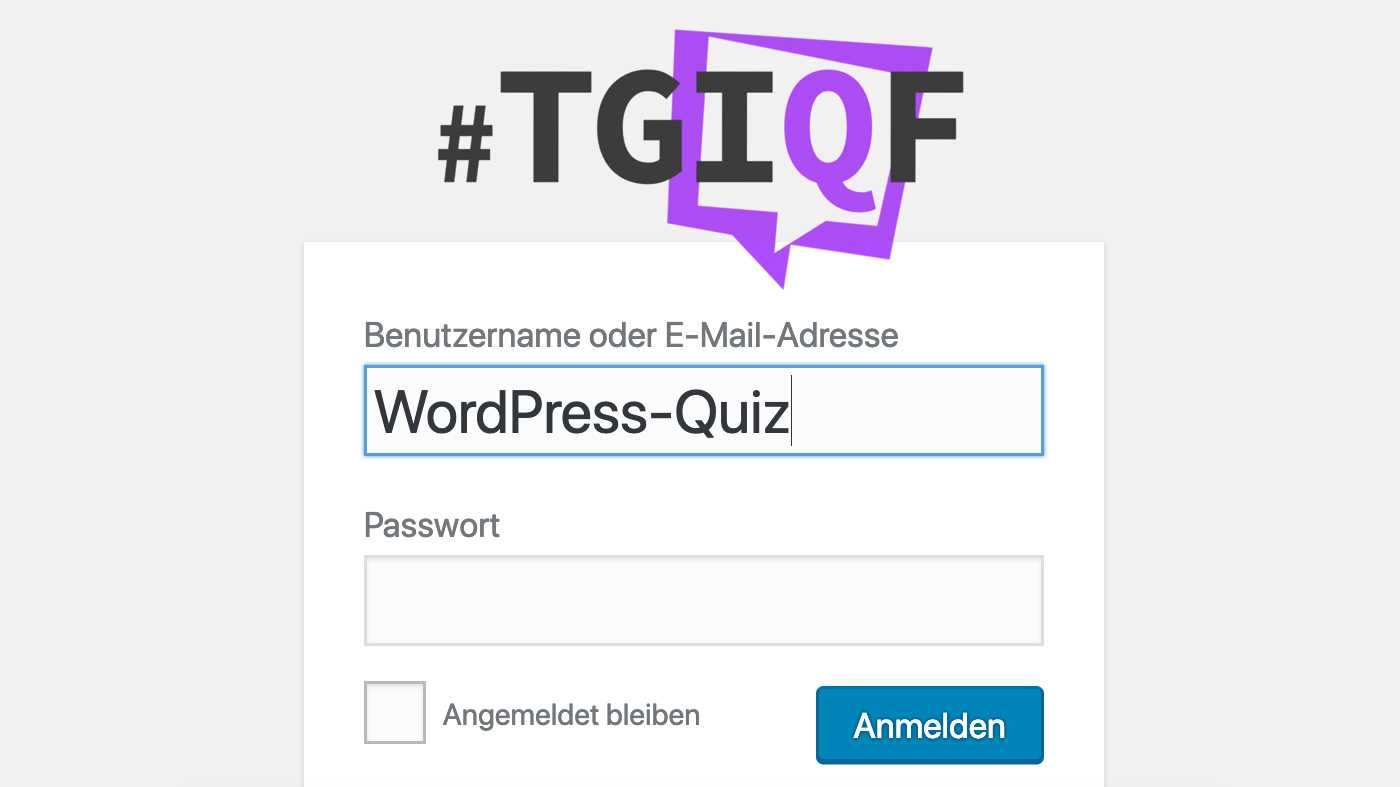 #TGIQF – Das WordPress-Quiz