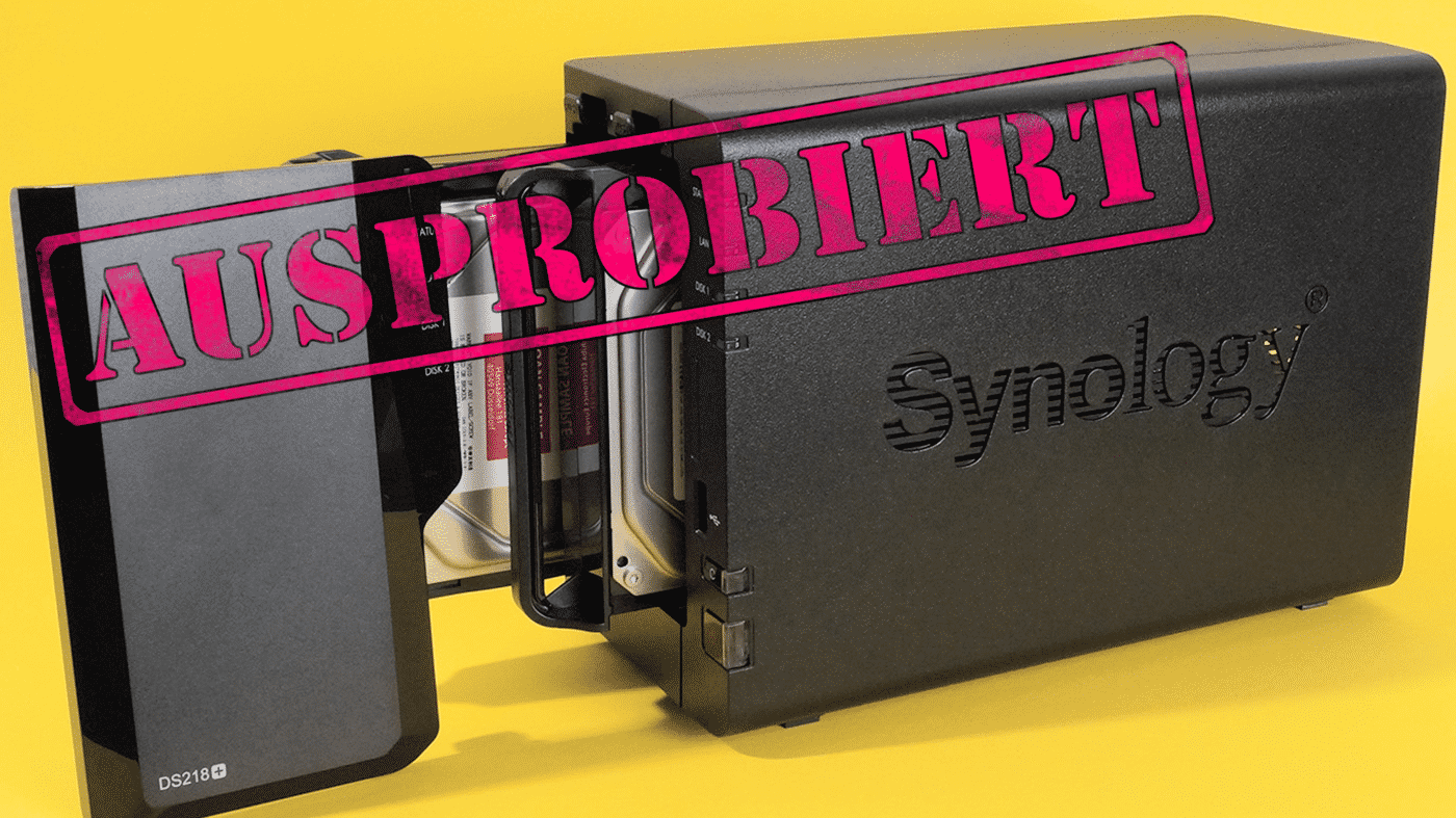 Synology DS218+: Viele Funktionen, wenige Anschlüsse