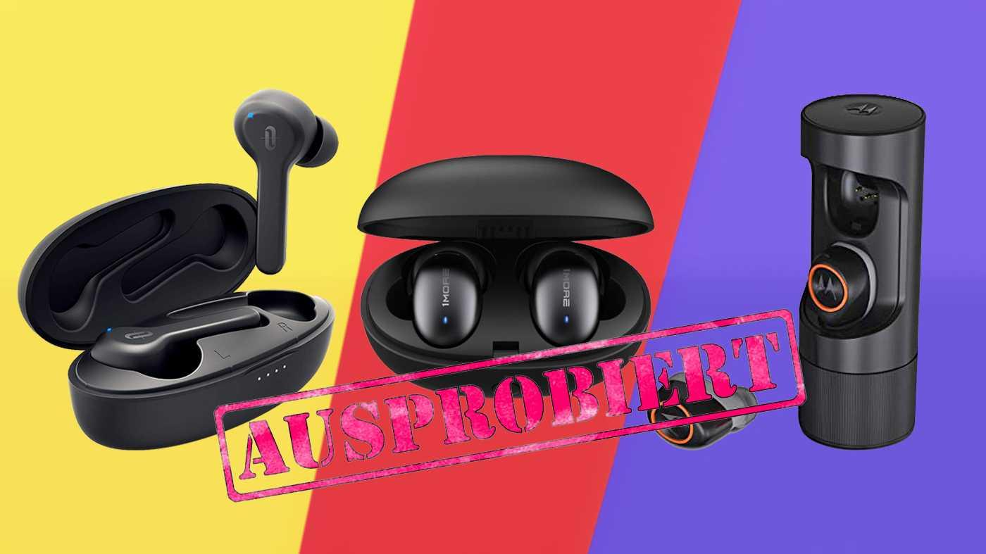 Drei günstige True-Wireless-Kopfhörer im Vergleichstest