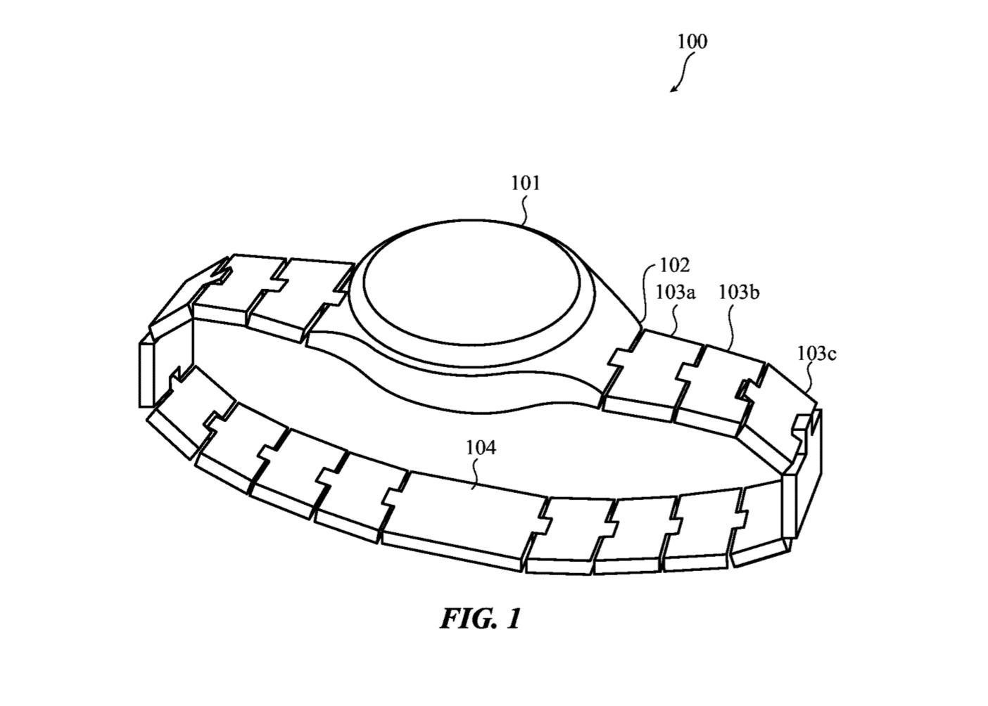 Die Glieder des Armbandes sollen dem Patent zufolge Platz für Sensoren und Komponenten bieten.