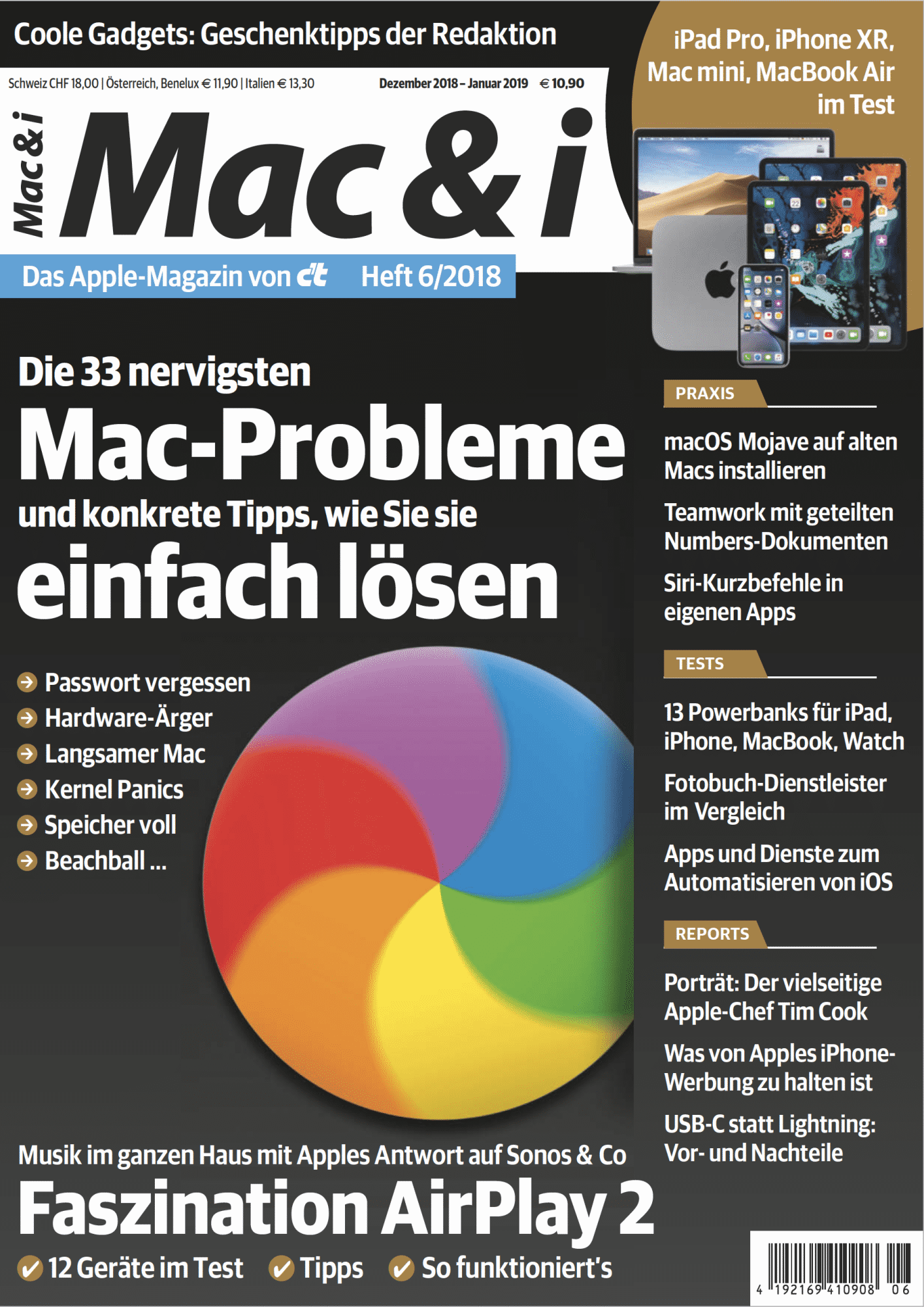 Mac & i Heft 6/2018: Titelbild…