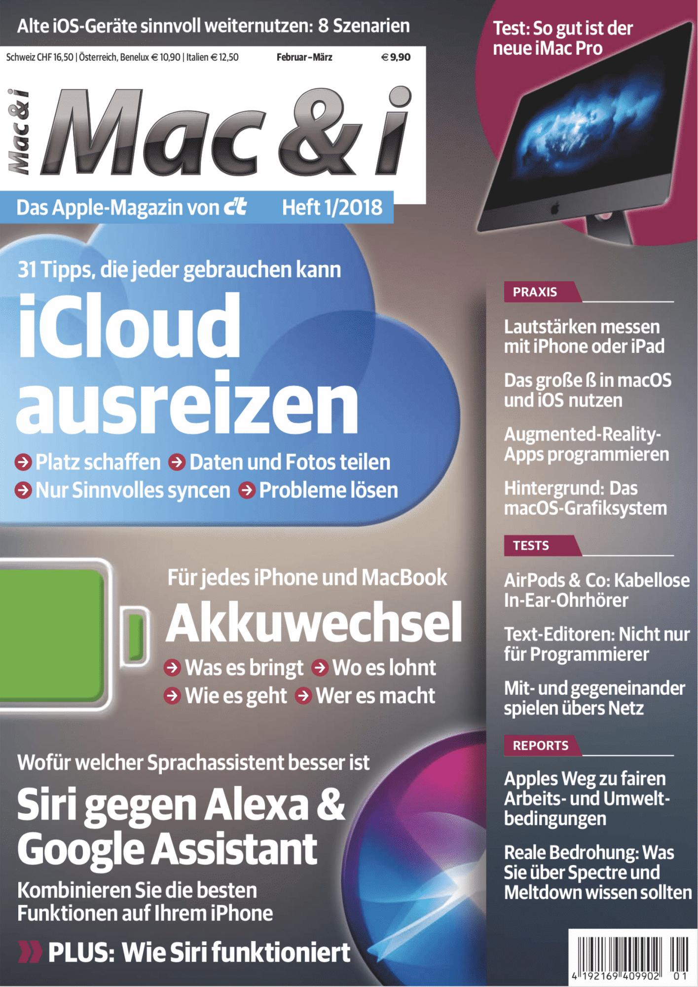 Mac & i Heft 1/2018: Titelbild …