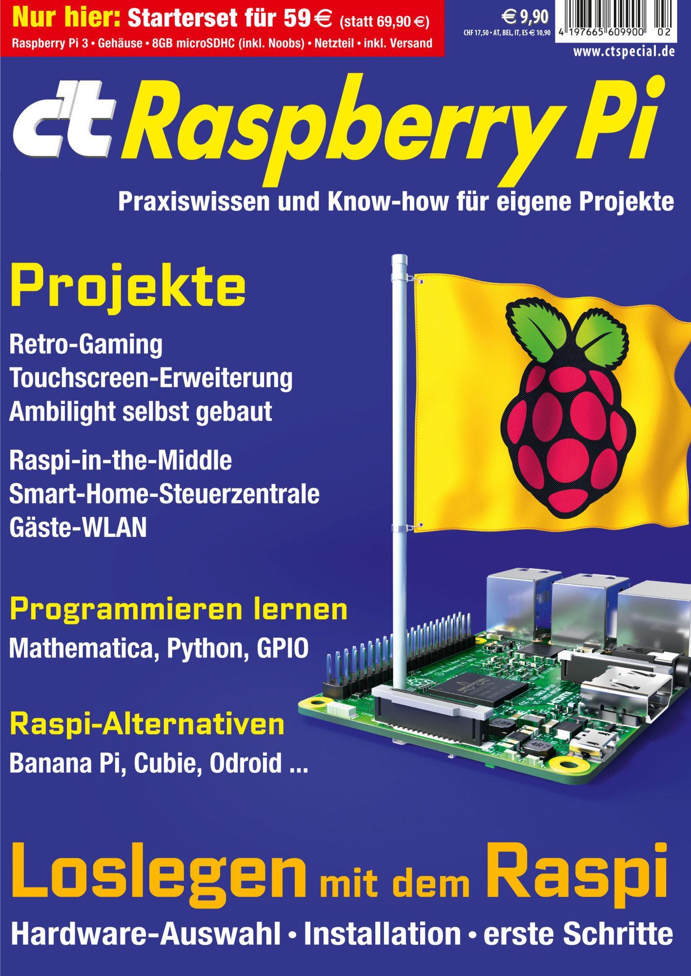 c't Raspberry Starterset-Angebot im Handel