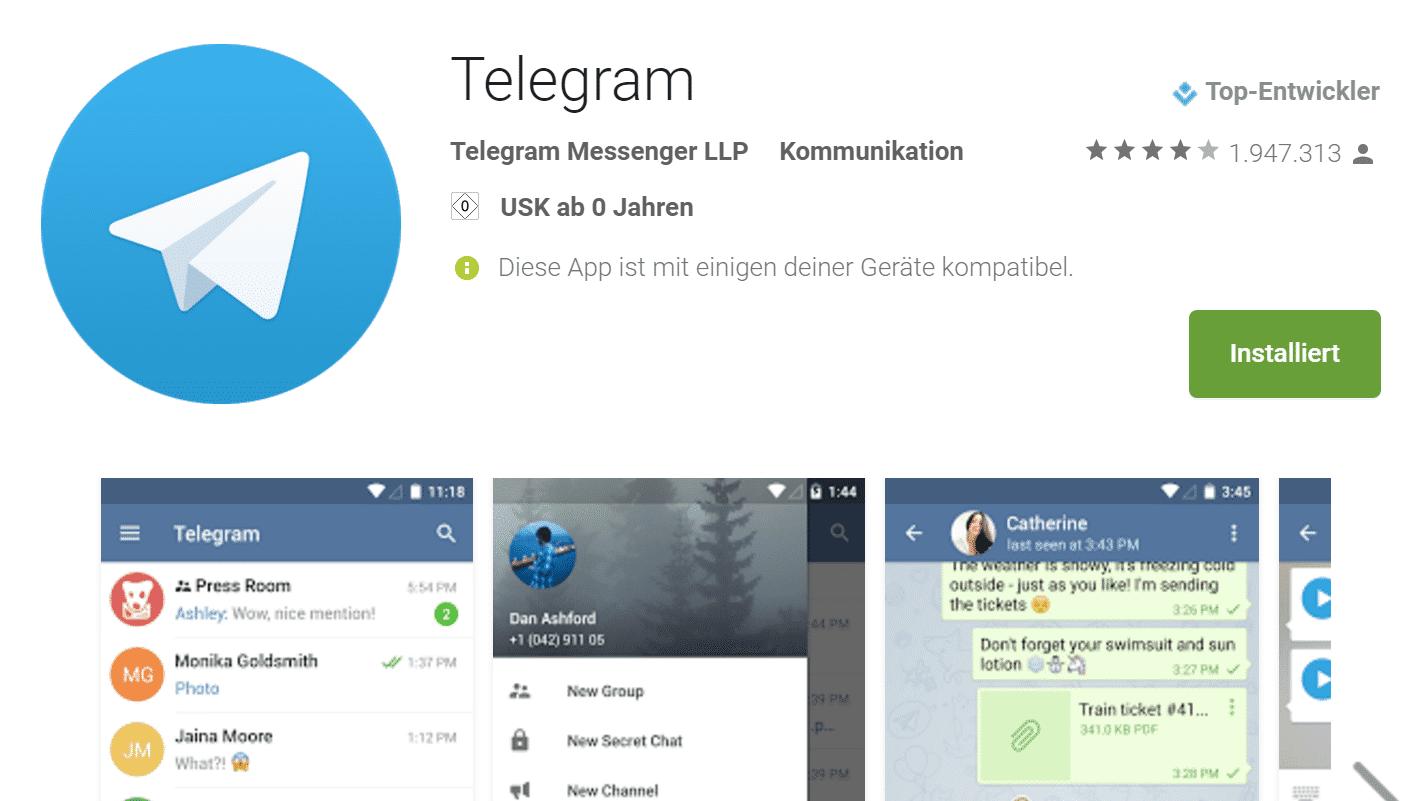 Messenger Telegram mit Hilfe von Mobilfunkprovider gehackt