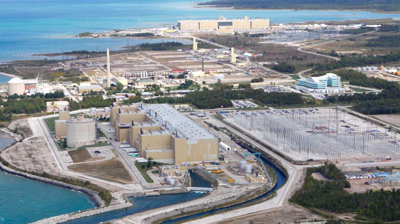 Luftbild des Atomkraftwerks Bruce
