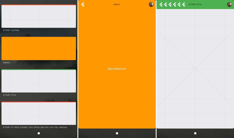 Der Fuchsia-Startbildschirm erinnert an Google Now.