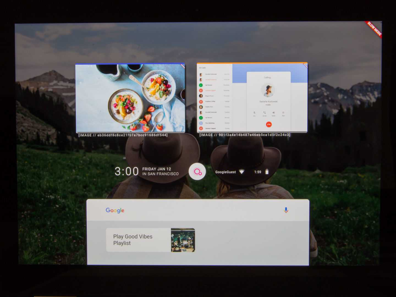 Googles Betriebssystem Fuchsia in Aktion auf einem Pixelbook.