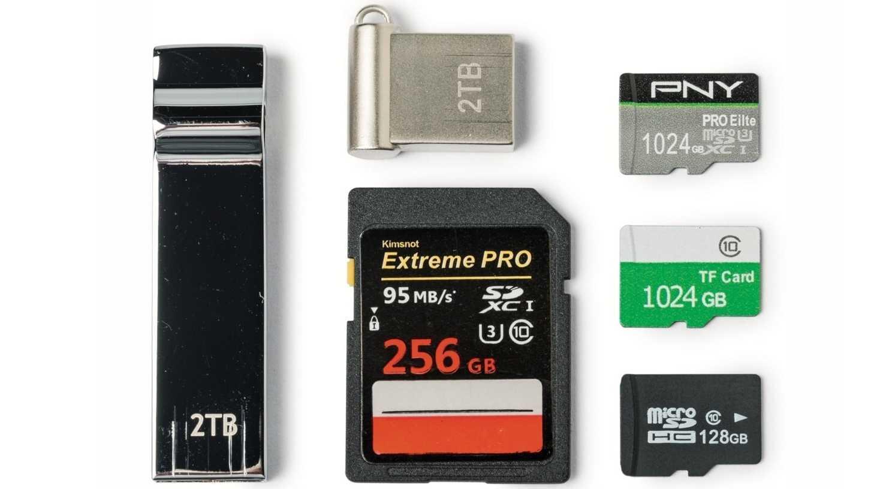 Gefälschte USB-Sticks, SD- und MicroSD-Karten, über Wish.com bestellt