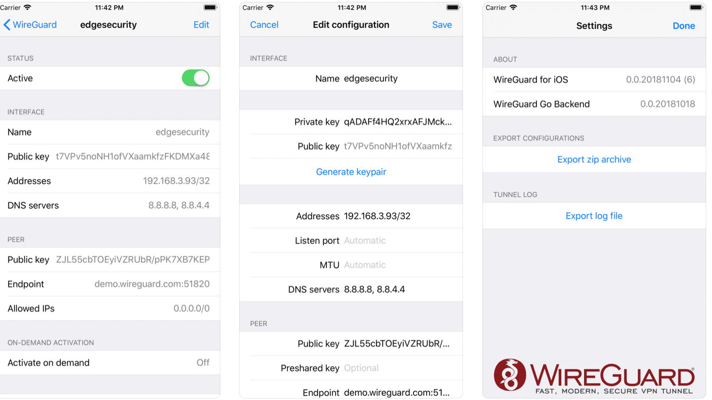 Freies VPN WireGuard: iOS-Client im App Store verfügbar