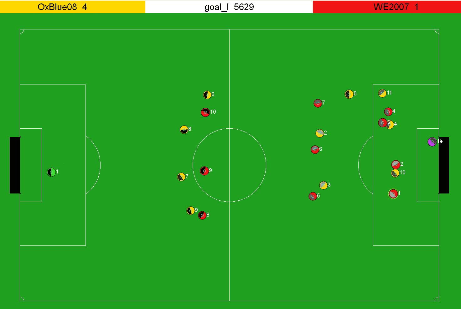 @bu: Der Ball ist über die Torlinie gerollt, der automatische Schiri entscheidet: Tor, Toor Toooor!