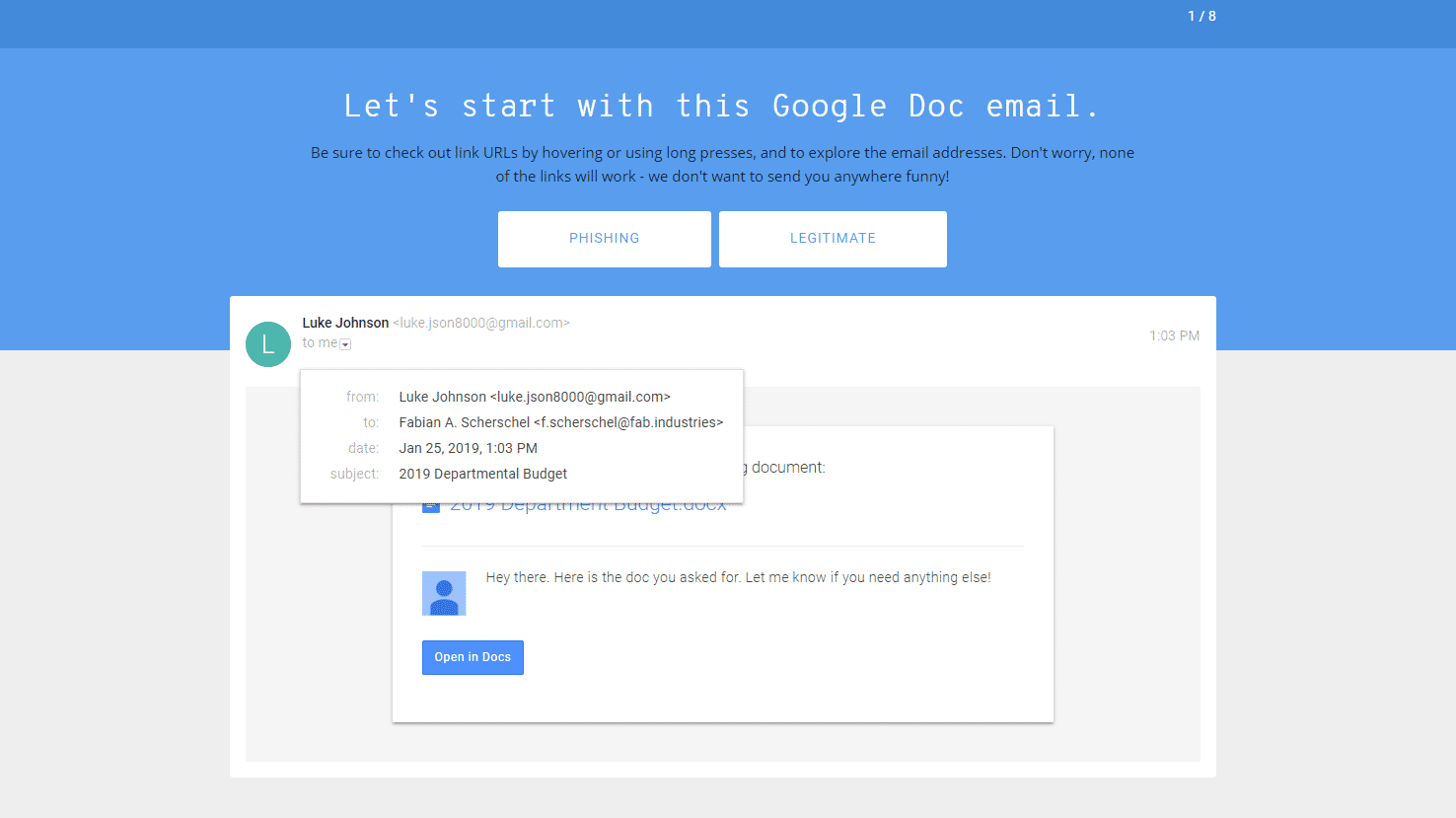 Das Problem mit Googles Phishing-Quiz