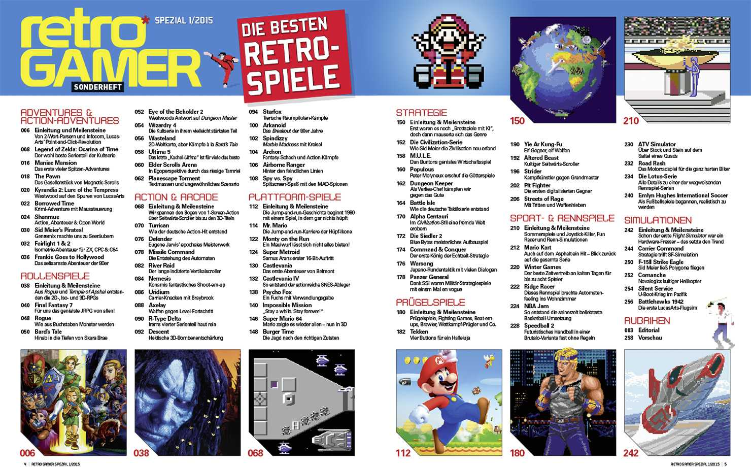 Sind das wirklich die 70 besten Retro-Spiele? Darüber lässt sich nach Letüre des Sonderheftes gepflegt diskutieren.