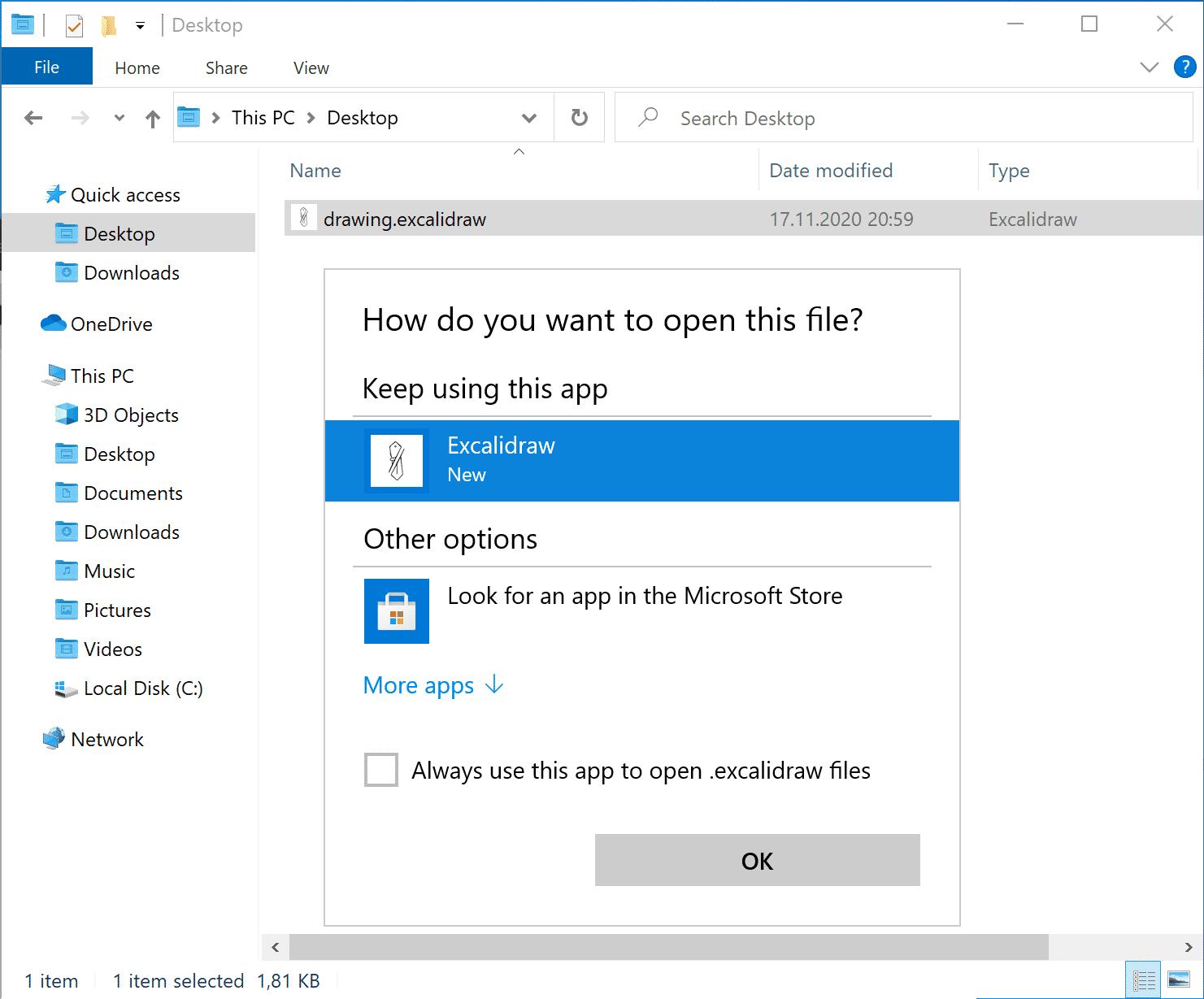 Mithilfe der File Handling API können sich Progressive Web Apps bestimmten Dateiendungen zuordnen. Ein Doppelklick auf die gewählte Datei würde wieder die PWA öffnen.