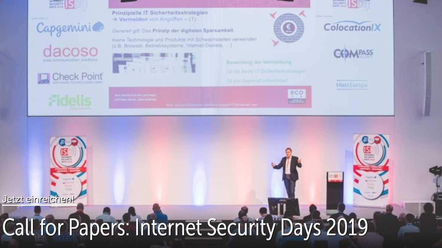 Internet Security Days 2019: Countdown für den Call for Papers läuft