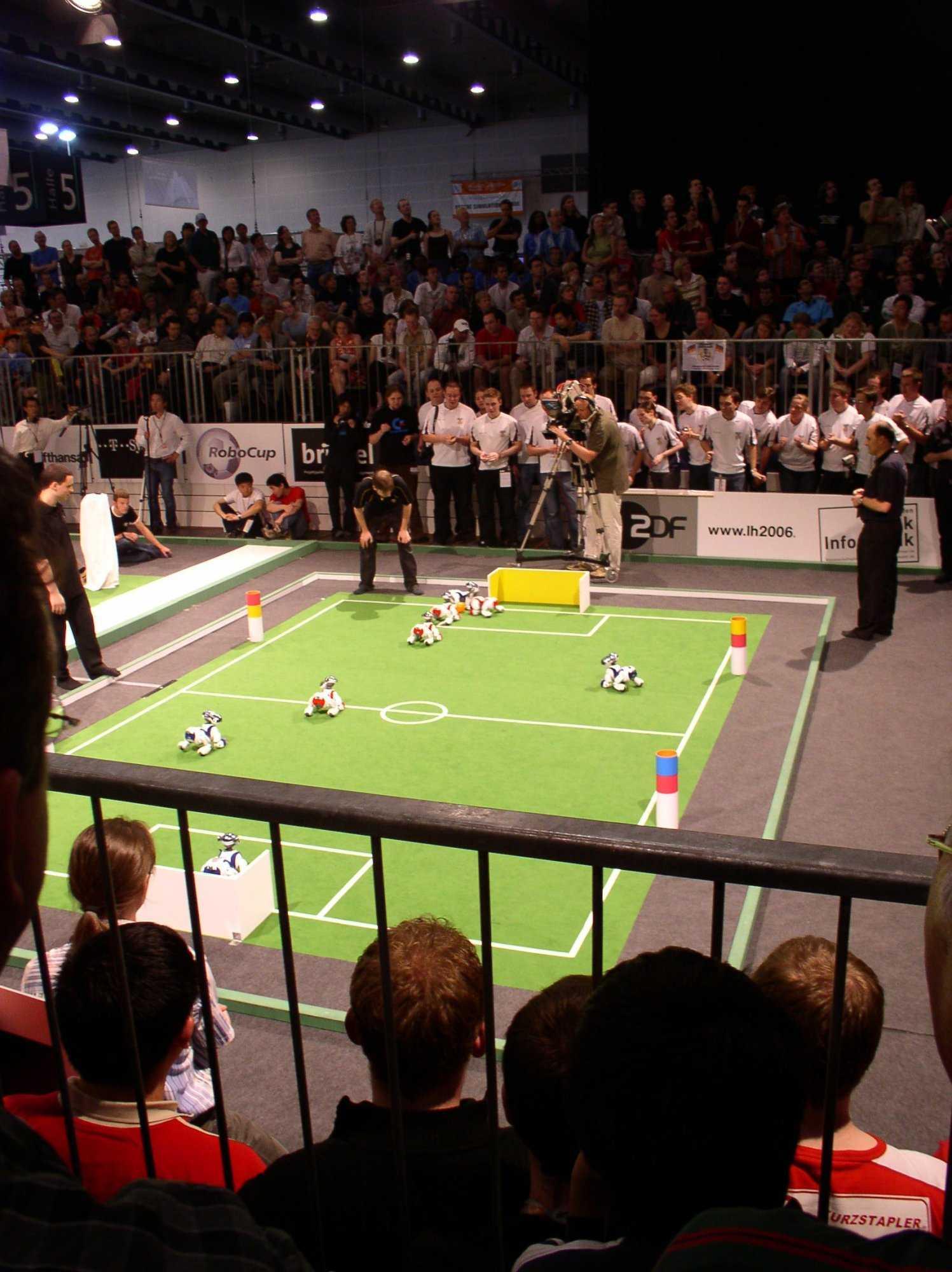 Spiel um den 3. Platz der deutschen Aibo-Teams