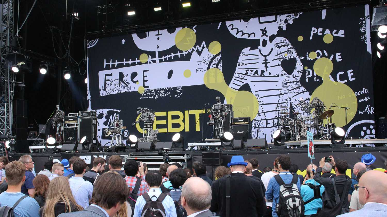 Compressorhead auf der CEBIT 2018